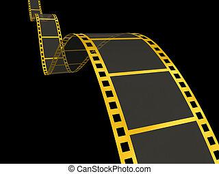 nero, oro, striscia cinematografica