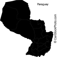 nero, paraguay, mappa