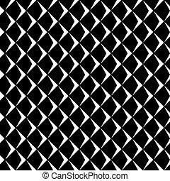 nero, pattern., seamless, astratto, geometrico, white.