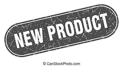 nero, prodotto, grunge, etichetta, stamp., nuovo, segno.