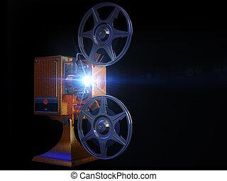 nero, proiettore, film