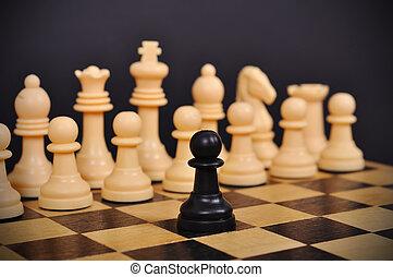 nero, scacchi, pegno