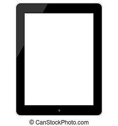 nero, schermo tocco, tavoletta, in, ipad, stile