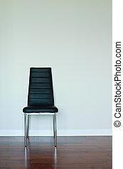 nero, sedia, cuoio