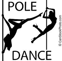 nero, set, silhouette, ballo