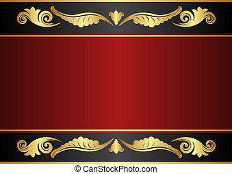 nero, sfondo marrone