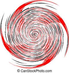 nero, spirale, vettore, bianco rosso