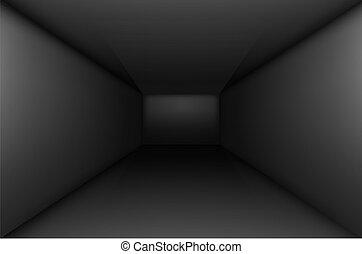 nero, stanza, vuoto