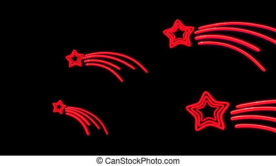 nero star tail red - the star graphic of nero light glow
