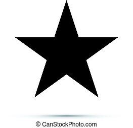 nero, stella, icona