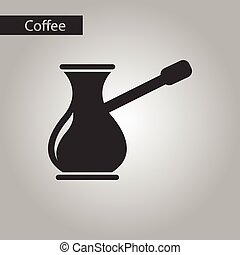 nero, stile, bianco, turco, caffè