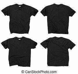 nero, t-shirts, vuoto