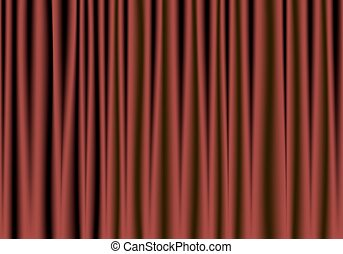nero, teatro, tenda rossa