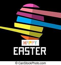 nero, uovo di pasqua, fondo, felice