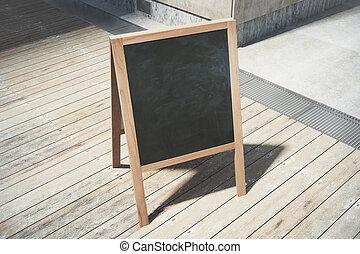 nero, vuoto, menuboard