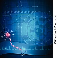 Nerve cell background