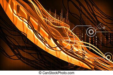 Digital illustration of nerves in colour background