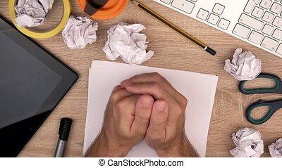 Nervous graphic designer