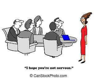 Nervous in meeting