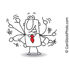 Nervous man - This business man is very agitated.he lost his...