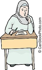 Nervous Muslim Student