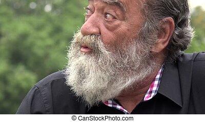 Nervous Old Bearded Man