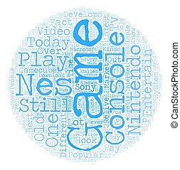 nes game system text background wordcloud concept