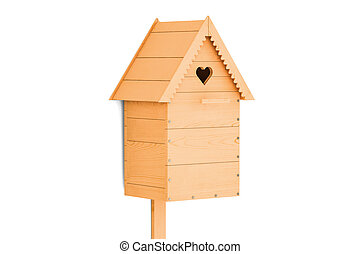 Nest box, 3D rendering isolated on white background
