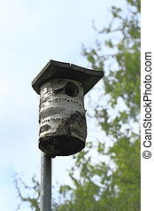 Nest box - Songbirds nest box on a pole