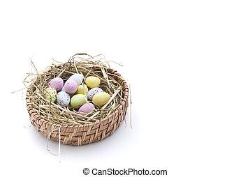 Nest of Coloured Eggs (2)