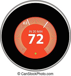 Nest Thermostat Red - Nest thermostat controls and regulates...