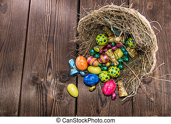 Nest with Easter Sweets - Nest with different sorts of...