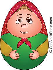 Nested doll - Doll matreshka, Russian traditional national...