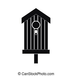 Nesting box icon, black simple style