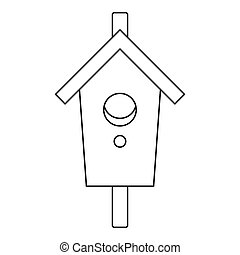 Nesting, box icon, outline style