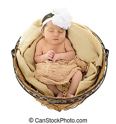 Nesting Newborn - An adorable newborn girl sleeping ...
