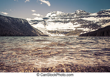 Cameron Lake - Nestled in a glacial basin, Cameron Lake is a...