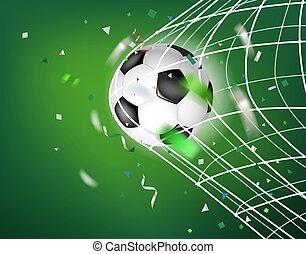 net., 개념, 벡터, 목표, 축구 공