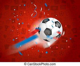 net., 공, 고전, 나는 듯이 빠른, 축구, 승리자, 개념, 축구 성냥