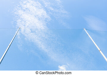 net and blue sky background