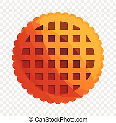 Net biscuit icon, cartoon style