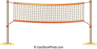 close up volleyball net