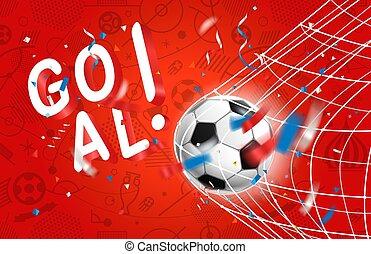 net., conceito, goal., competição, bola, mundo, futebol