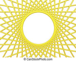 net - backgrund illustration - golden net on white backgrund...