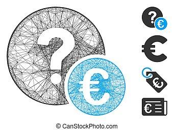 Net Euro Balance Query Vector Mesh