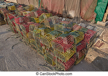 net for fishing in a port