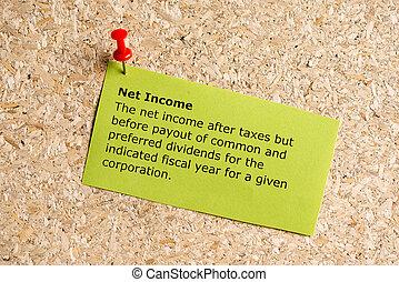 net, inkomen