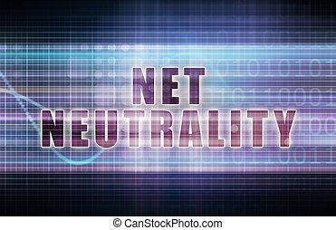 Net Neutrality on a Tech Business Chart Art