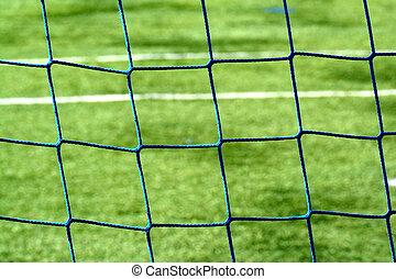 Net of a goal of a football stadium