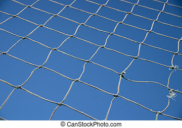 Net on blue sky